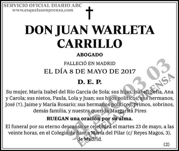 Juan Warleta Carrillo